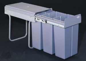 """Pojemnik na odpady do """"30"""" 3-koszowy - JC604 REJS"""