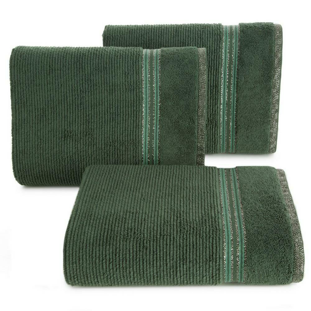Ręcznik 50x90 Filon 07 zielony ciemny 530g/m2 Eurofirany