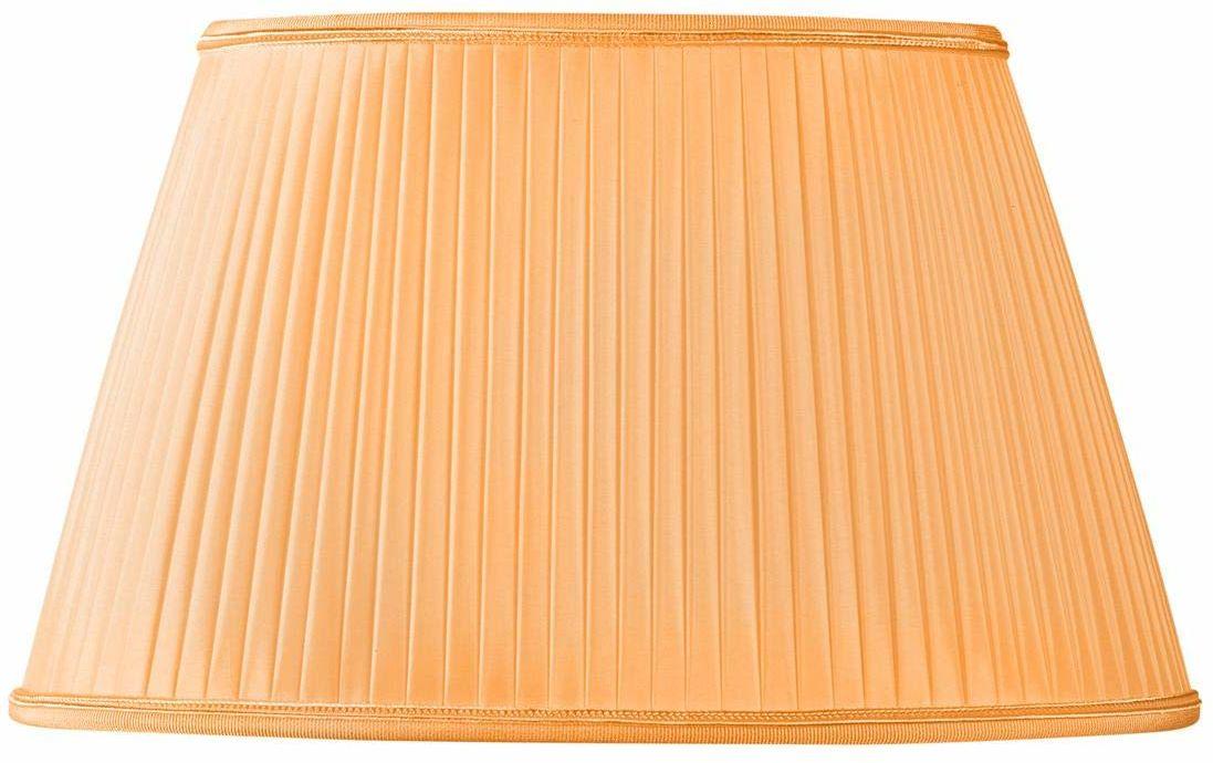 Owalny plisa klosz - 35 x 22/23 x 16/21 (plisowany ręcznie) - mandarynka