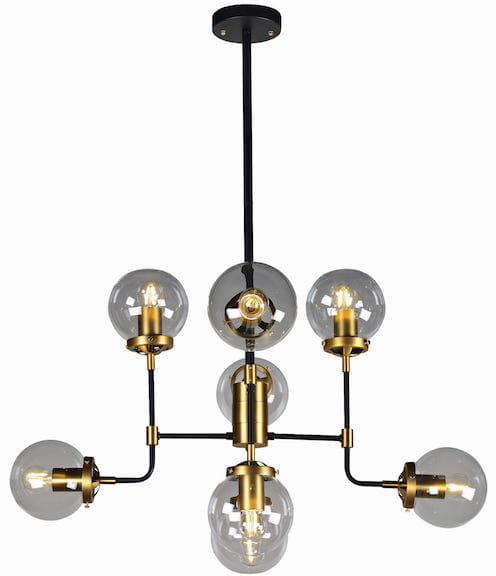 Creative Gold - żyrandol 8 ramion art deco