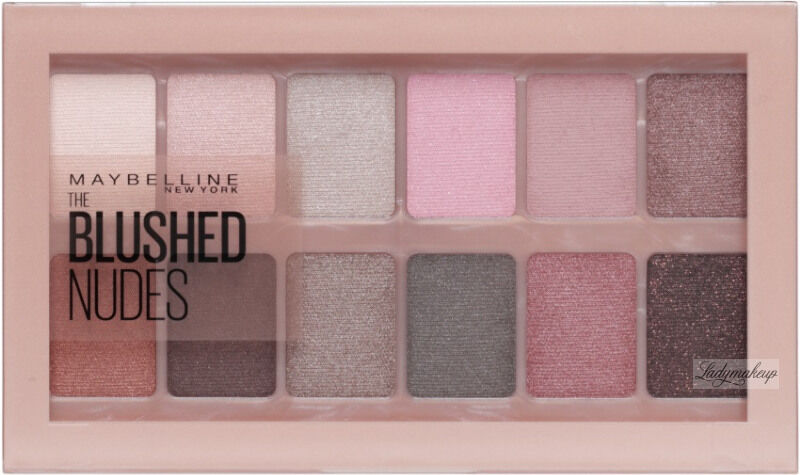 MAYBELLINE - THE BLUSHED NUDES EYESHADOW PALETTE - Paleta 12 cieni do powiek