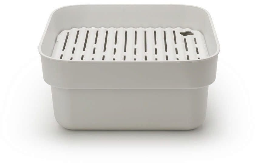 Brabantia - pojemnik do zmywania z ociekaczem - jasnoszary