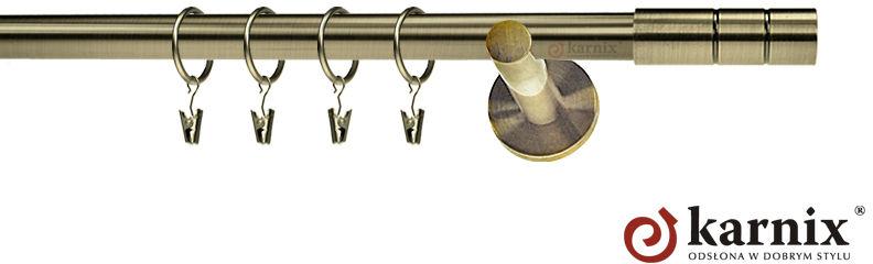 Karnisze nowoczesne NEO pojedynczy 19mm Cylinder antyk mosiądz