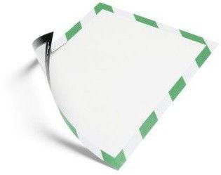 Ramka magnetyczna Duraframe Magnetic Security A4 - zielono-biała / 5 szt.