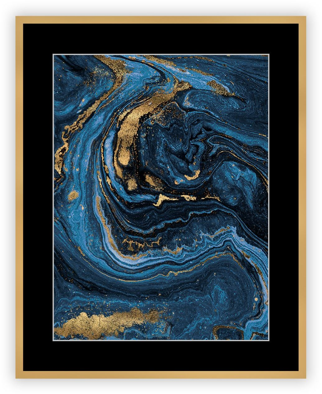 Obraz Abstract Blue&Gold I 40 x 50cm