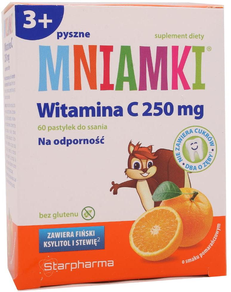 Mniamki na odporność Witamina C 250mg - Starpharma - 60 pastylek