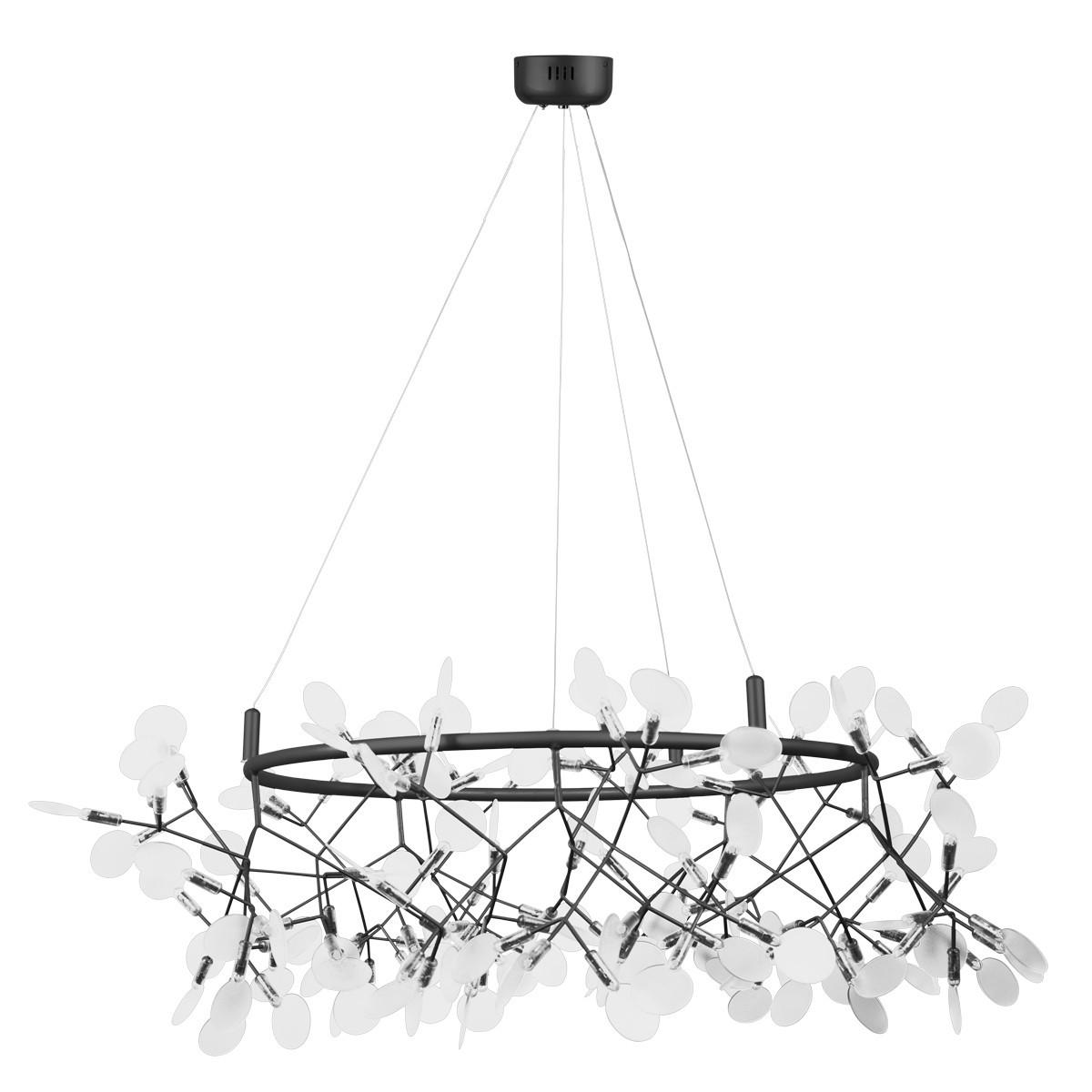 Lampa wisząca ledowa CHIC BOTANIC L czarna 105 cm ST-5860-L black - Step into design Do -17% rabatu w koszyku i darmowa dostawa od 299zł !
