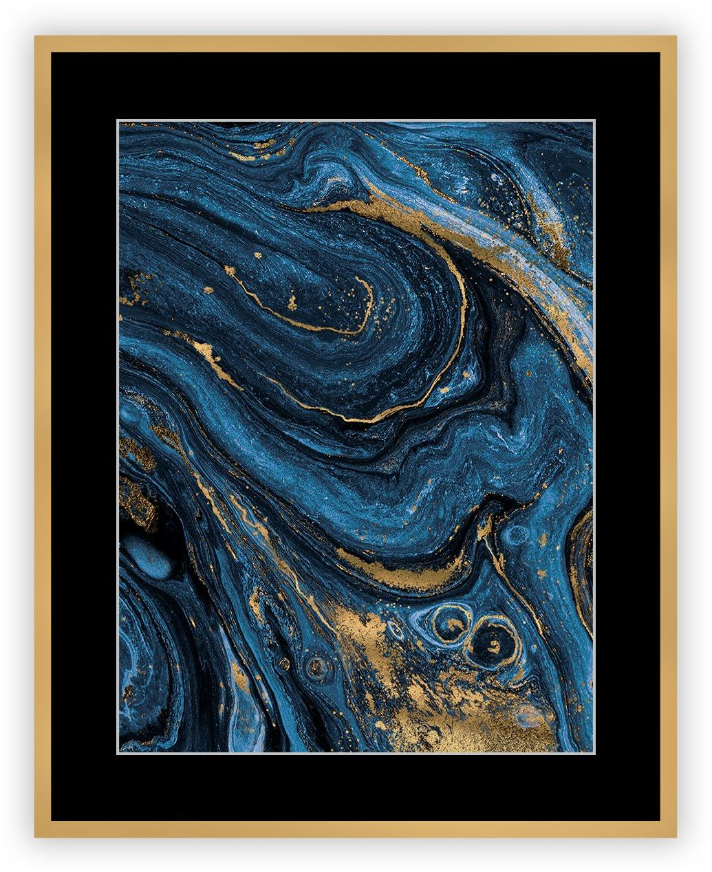 Obraz Abstract Blue&Gold II 40 x 50 cm