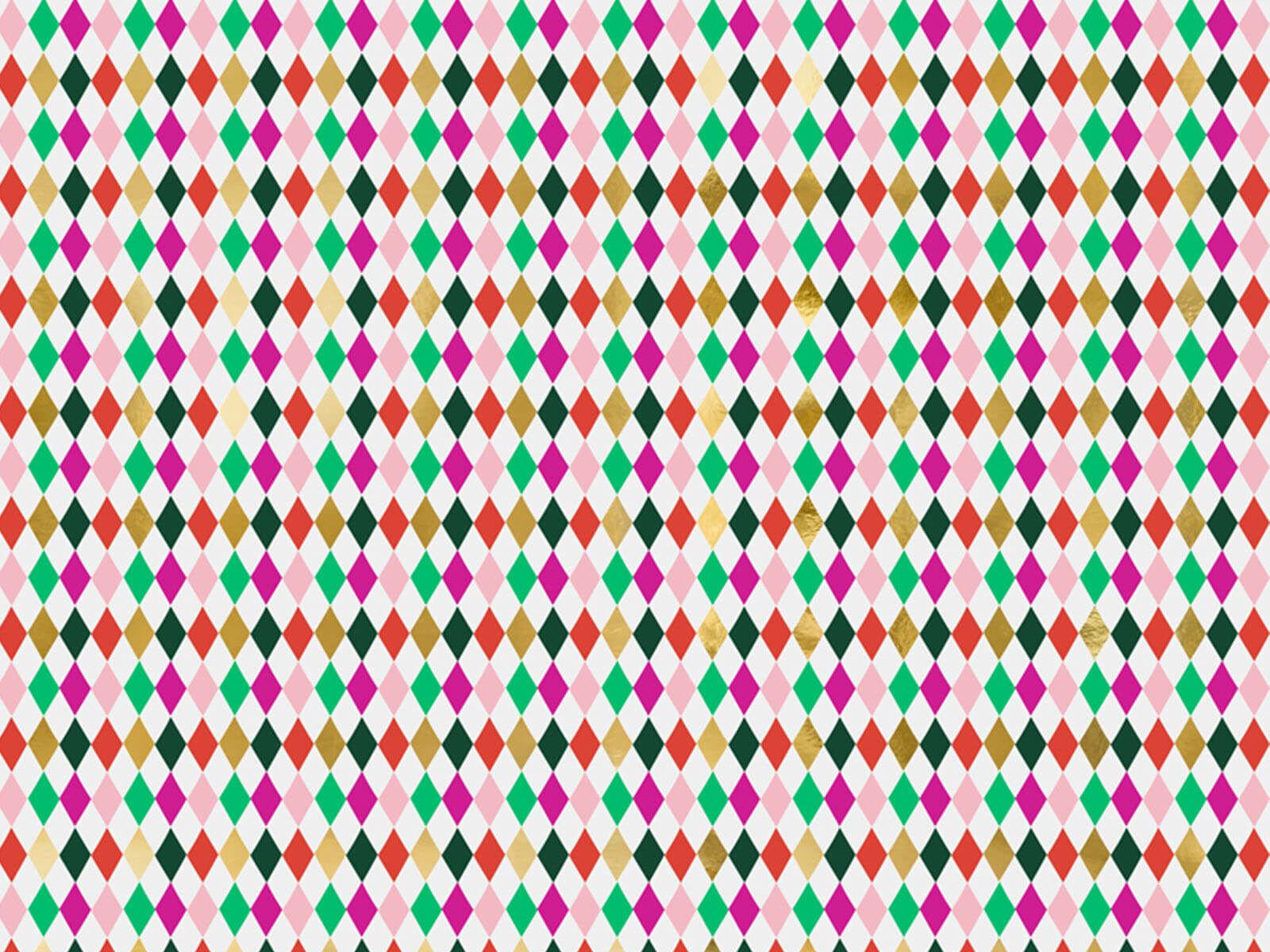 Papier do pakowania prezentów Kolorowe Romby - 70 x 200 cm - 1 szt.