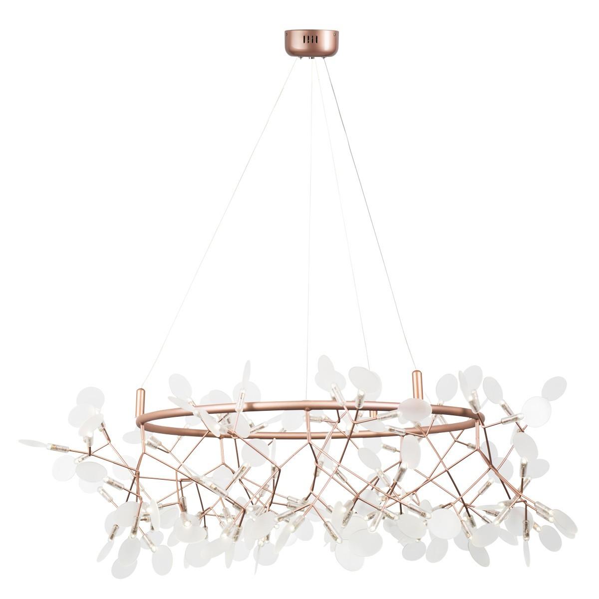 Lampa wisząca ledowa CHIC BOTANIC L miedziana 105 cm ST-5860-L copper - Step into design Do -17% rabatu w koszyku i darmowa dostawa od 299zł !