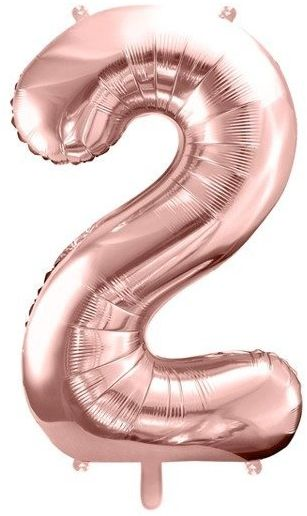 Balon foliowy 2 rose gold 86cm 1szt FB1M-2-019R