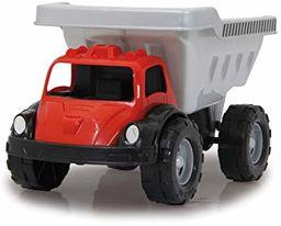 Jamara Big Kip 460311 460311 piaskownica samochodowa, kolor srebrny/czarny/czerwony  ok. 20 kg udźwigu, powierzchnia ładunkowa uchylna, atrapy reflektorów