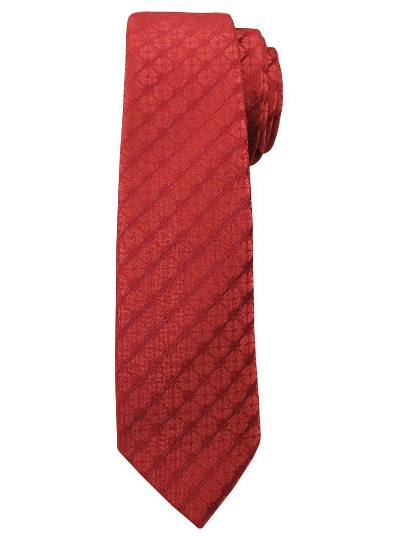 Modny i Elegancki Krawat Alties - Czerwony, Drobna Faktura KRALTS0183