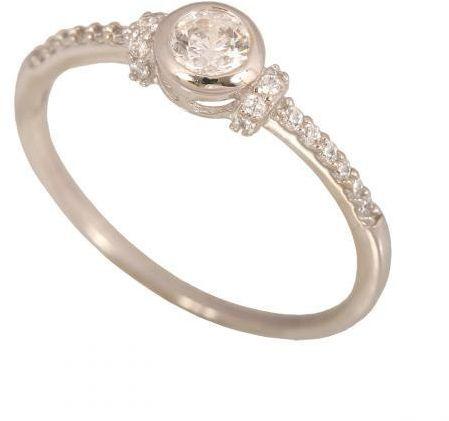 Złoty pierścionek zaręczynowy Pi027
