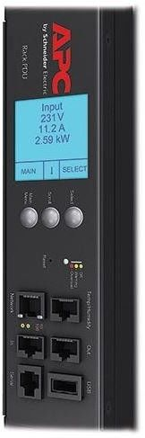 APC Rack PDU 2G, Metered by Outlet with Switching, ZeroU, 11.0kW, 230V, (21) C13 & (3) C19 (AP8681)