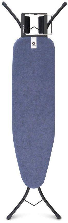 Brabantia - deska do prasowania rozmiar 110 x 30 cm, rama czarna 22mm - denim blue