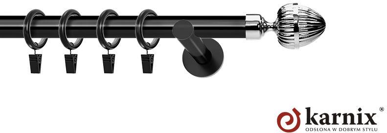 Karnisze nowoczesne NEO pojedynczy 19mm Milano czarny