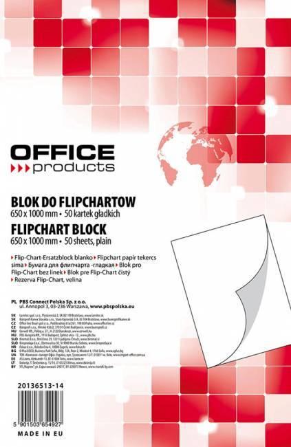 Blok do flipchartu 65x100cm gładki (50) - X01034