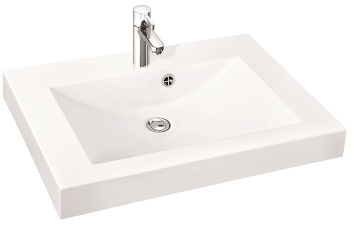 Marmorin umywalka nablatowa Moira Bis 80, 80 cm bez otworu biała 280080022010 __DARMOWA DOSTAWA__