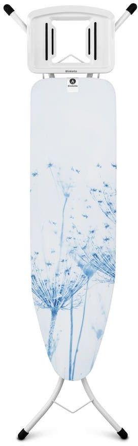 Brabantia - deska do prasowania rozmiar 110 x 30 cm, rama biała 22mm - cotton flower