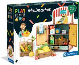 Clementoni 18550 Clementoni-18550-Play Creative-Minimarket-Made in Italy - zestaw artystyczny dla dzieci od 4 lat i starszych rzemiosła kartonowego i papieru, angielski, wielokolorowy