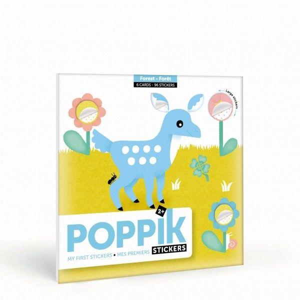 Poppik - pierwsza wyklejanka pixel art las My First Stickers Forest