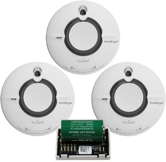 Zestaw 3x Czujnik Dymu ST-630-INT z Modułami komunikacyjnymi Wi-Safe 2