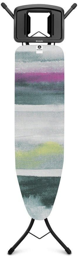Brabantia - deska do prasowania rozmiar 110 x 30 cm, rama czarna 22mm - morning breeze