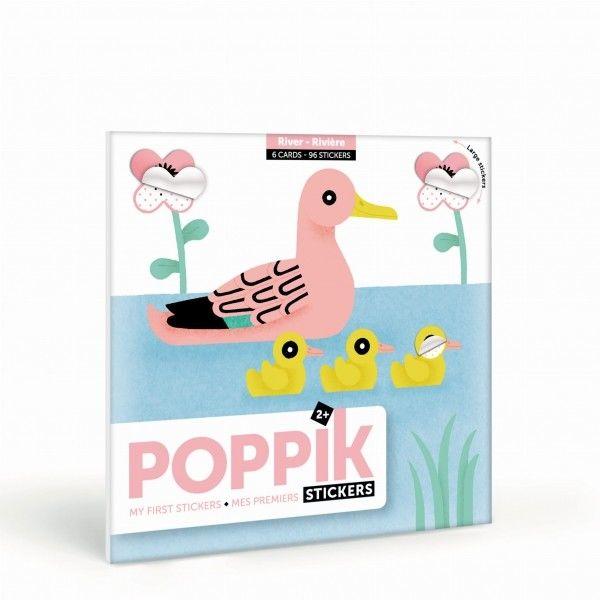 Poppik - pierwsza wyklejanka pixel art rzeka My First Stickers River
