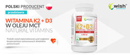 Wish Pharmaceutical Vitamin K2 Mk-7 200mcg + D3 100mcg in MCT oil 120caps