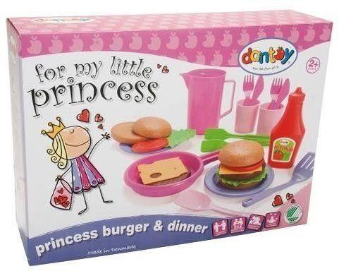 Zestaw obiadowy burgery Princess - Dantoy