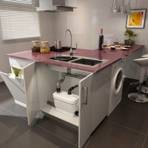 Pompa do odprowadzania wody z umywalek, zlewów, zmywarek lub pralek SFA Sanivite