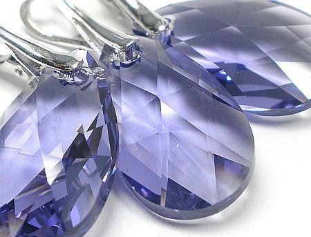 piękny komplet Kryształy Tanzanite Srebro