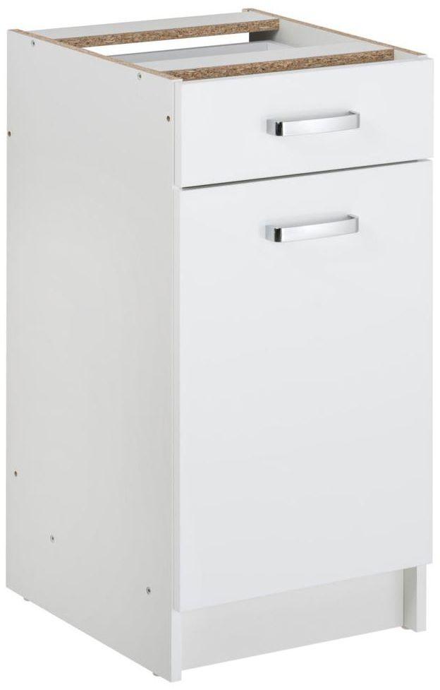 Szafka kuchenna stojąca First 40 cm kolor biały