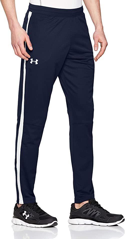 Under Armour Sportowy styl, lekkie i szybkoschnące spodnie dresowe, wygodne męskie joggery do treningu i sportu męskie Blue (Academy/White (408)) S