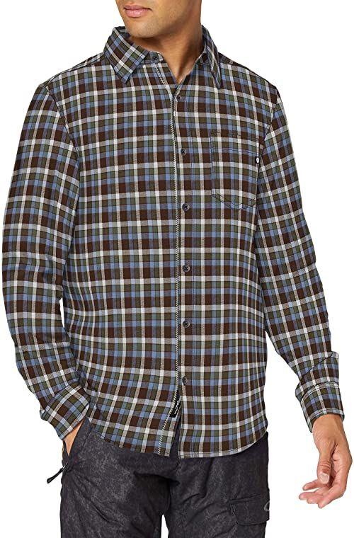 Marmot Męska koszula flanelowa z długim rękawem Fairfax średniej grubości, brązowa, S