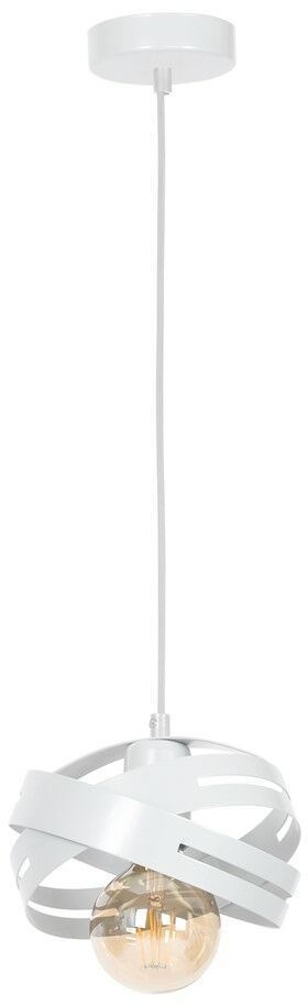 Lampa wisząca CORONA WHITE 1xE27