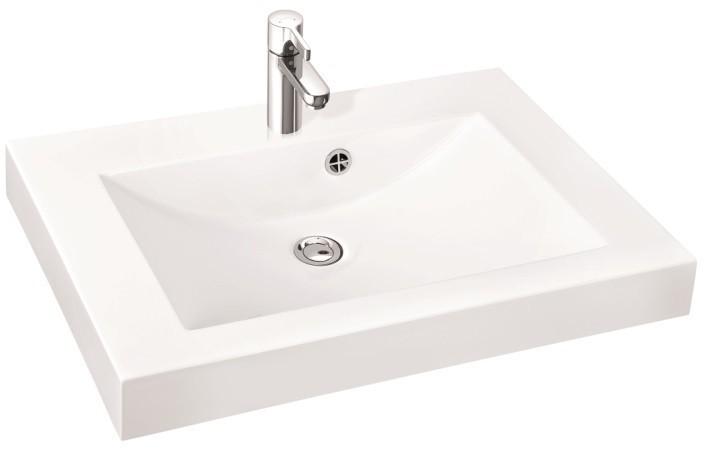 Marmorin umywalka nablatowa Moira Bis 80, 80 cm z otworem biała 280080022011 __DARMOWA DOSTAWA__