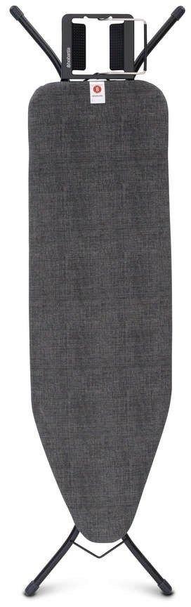 Brabantia - deska do prasowania rozmiar 124 x 38 cm, rama czarna 22mm - denim black