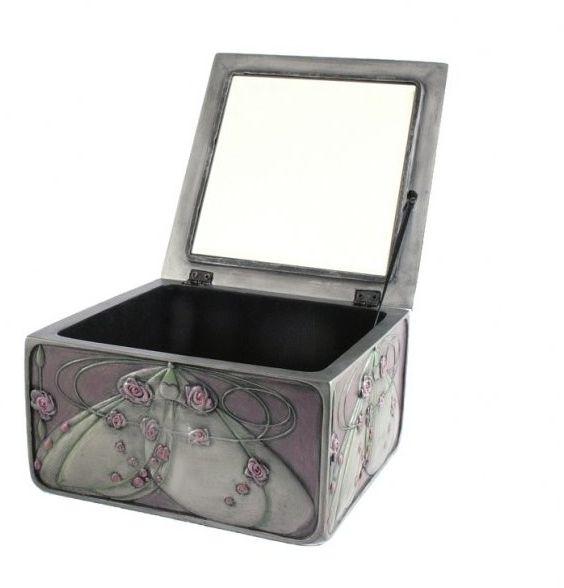 Secesyjne pudełko szkatułka na biżuterię RÓŻA VERONESE WU73210A7