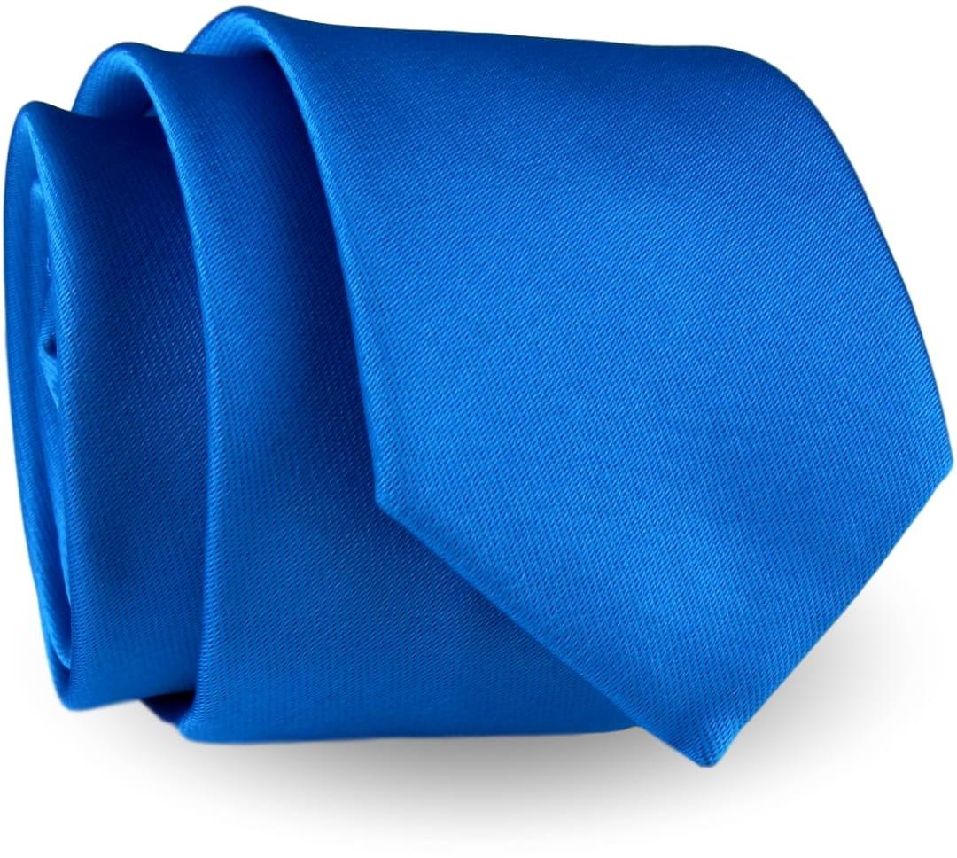 Krawat Męski Elegancki Modny Śledź wąski gładki niebieski lazurowy turkusowy G293