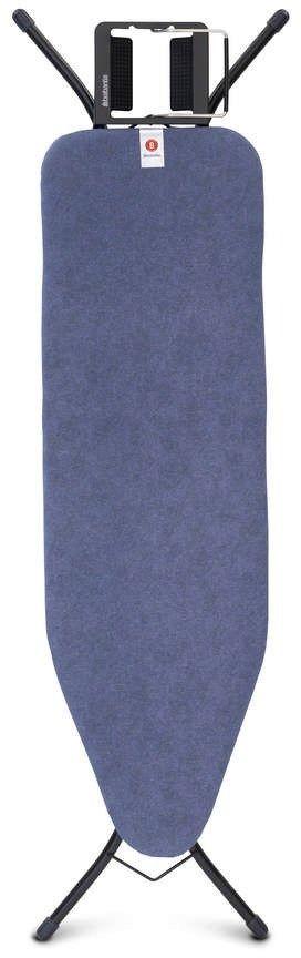 Brabantia - deska do prasowania rozmiar 124 x 38 cm, rama czarna 22mm - denim blue