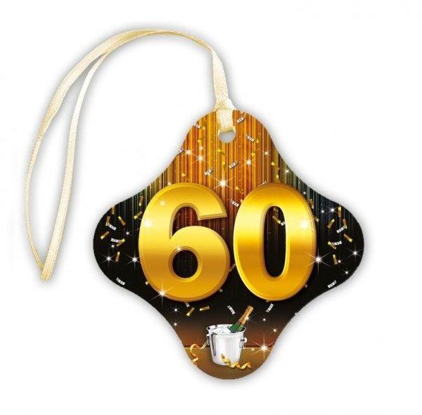 Zawieszki na butelki 60 urodziny 20 sztuk za405