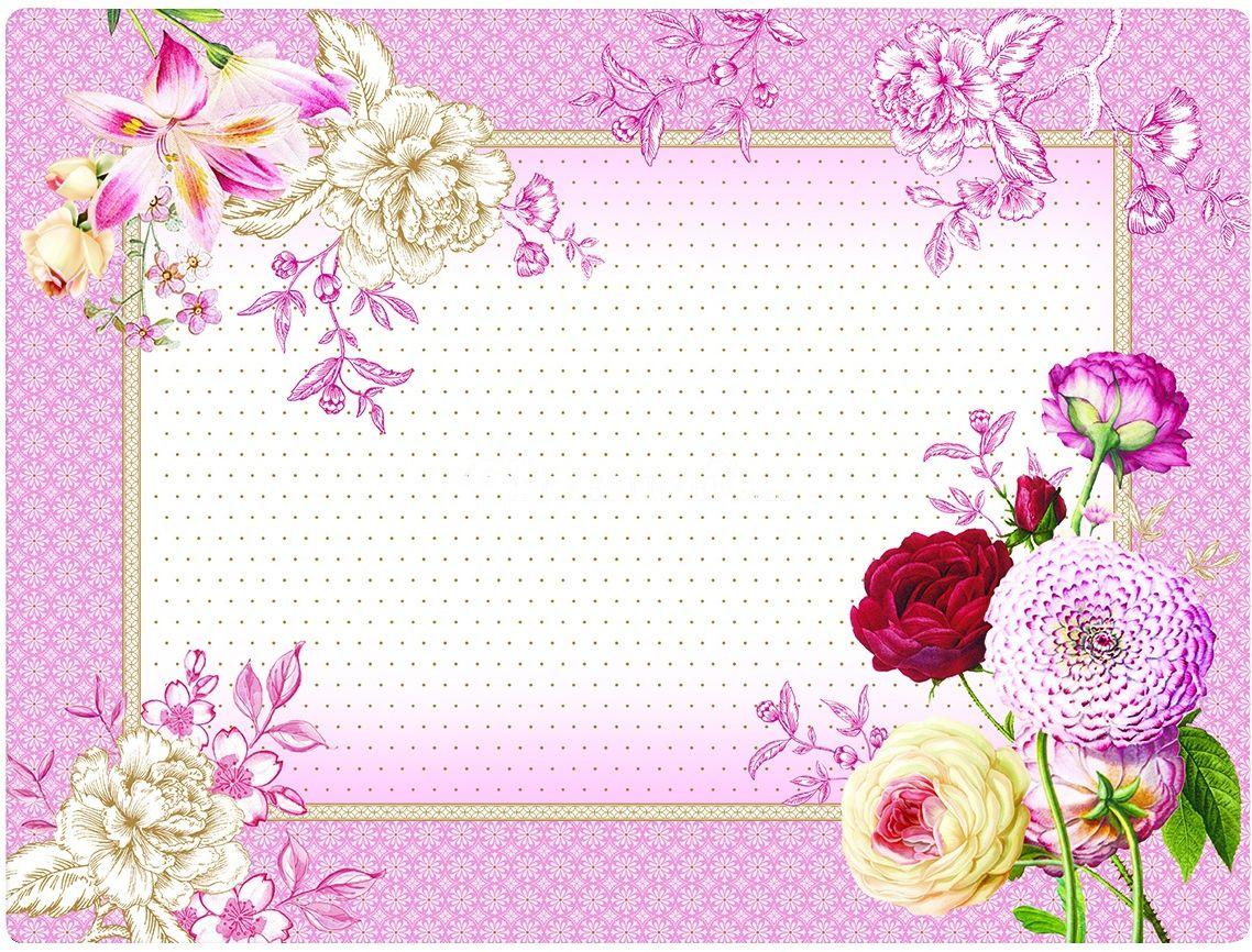 DUŻE PODKŁADKI KORKOWE NA STÓŁ Kwiaty Renaissance (961 RENA)