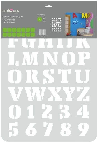 Szablon Colours alphabet