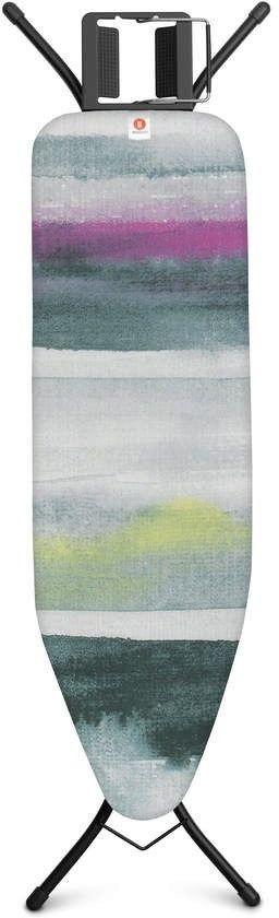Brabantia - deska do prasowania rozmiar 124 x 38 cm, rama czarna 22mm - morning breeze