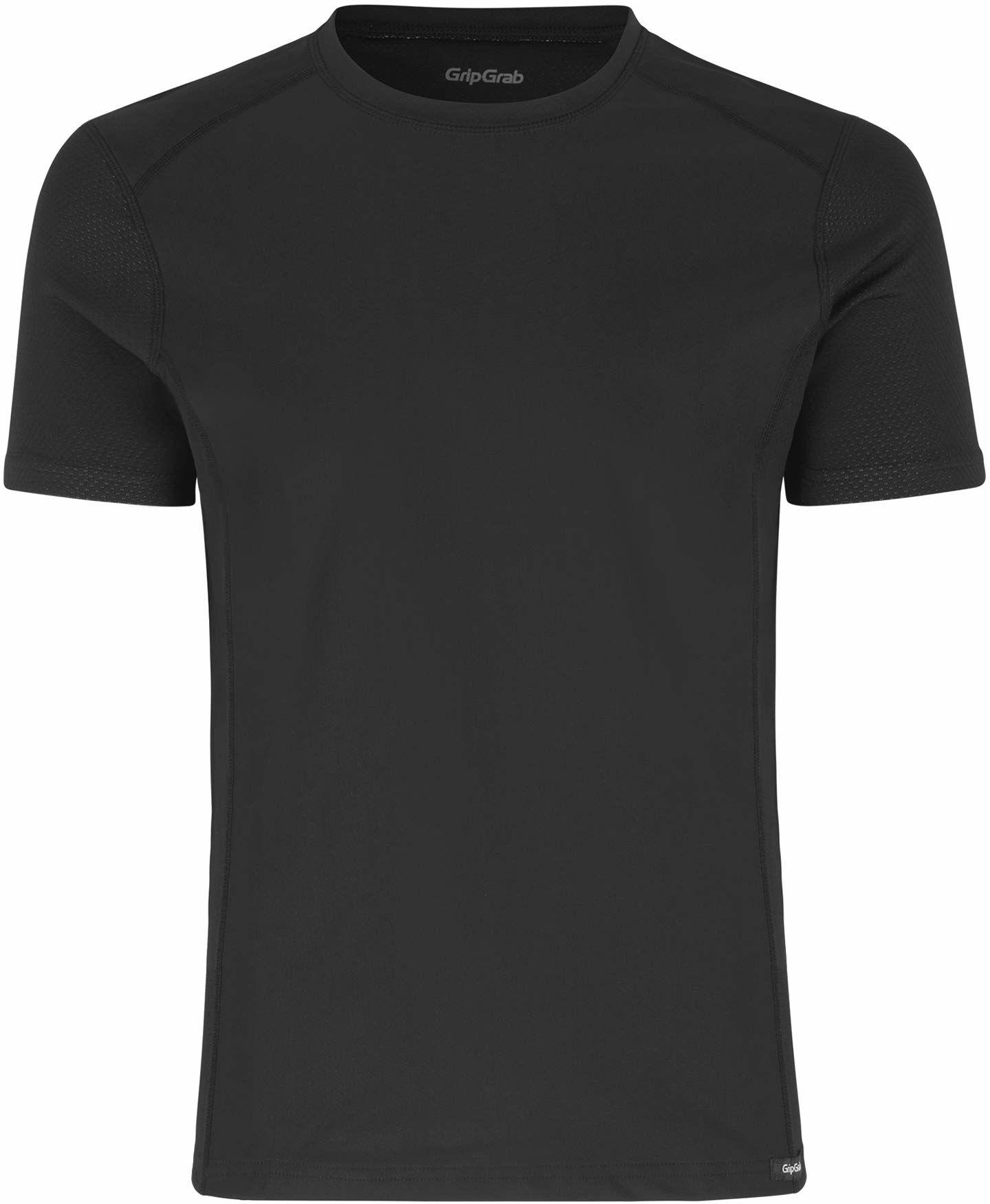GripGrab funkcjonalna koszulka funkcyjna, dla dorosłych, odporna na wiatr, z krótkim rękawem, do jazdy na rowerze, bez zapachu, wysoka oddychalność, sport, czarny, XXL