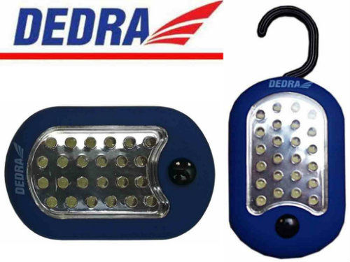 Latarka 24+3 LED owalna z magnesem DEDRA L1001