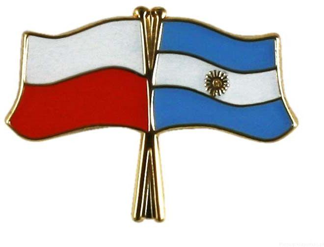 Flaga Polska - Argentyna, przypinka