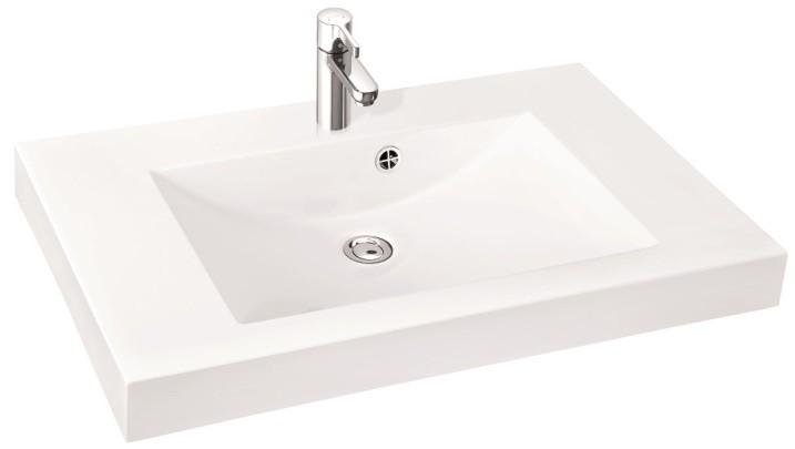 Marmorin umywalka nablatowa Moira Bis 90, 90 cm z otworem biała 280090022011 __DARMOWA DOSTAWA__